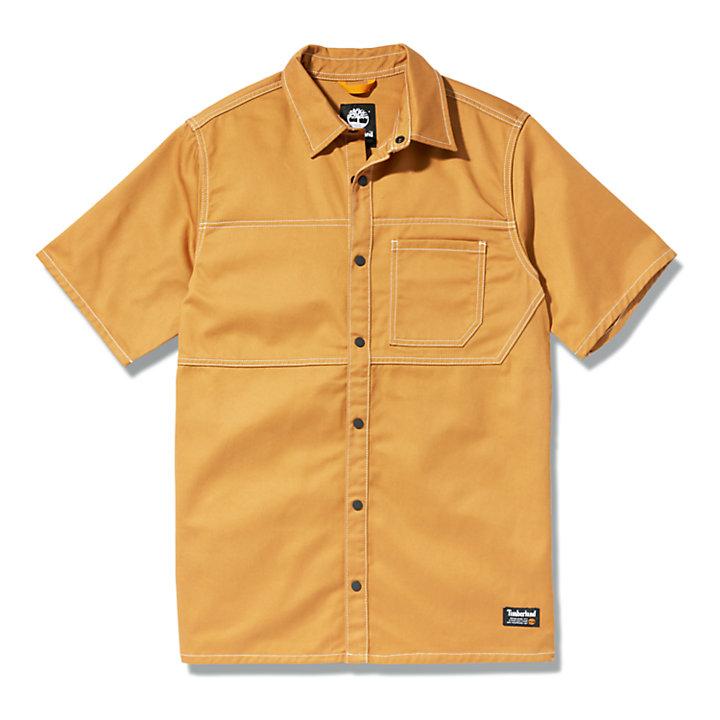 Camisa Militar para Hombre en amarillo oscuro-