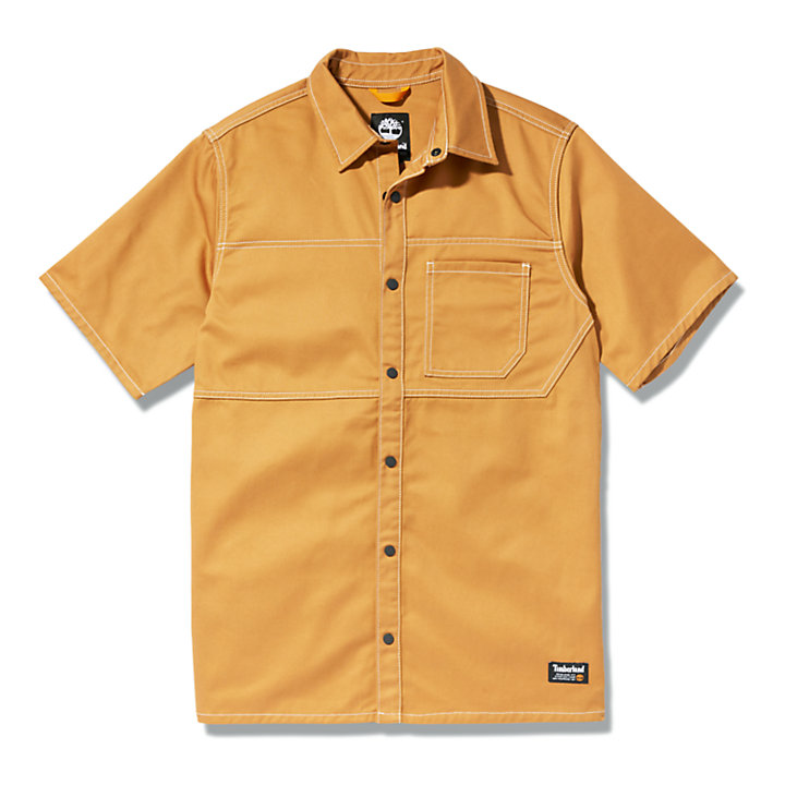 Utility-Hemd für Herren in Dunkelgelb-
