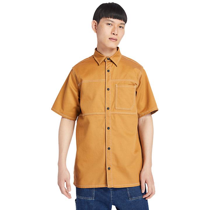 Utility Shirt for Men in Dark Yellow-