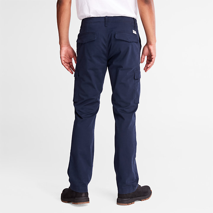 Twill Cargo Trousers for Men in Navy-