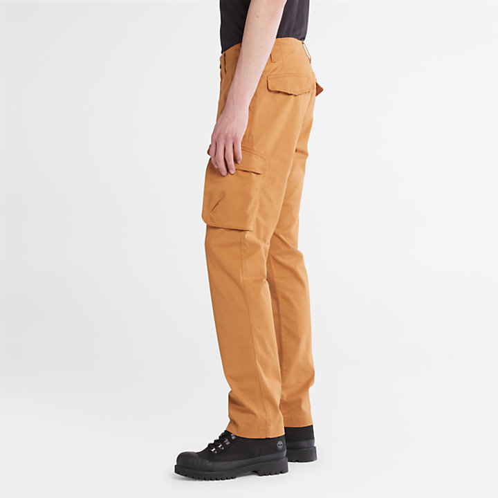 Twill Cargo Pants for Men in Yellow-