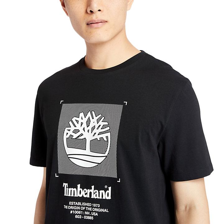 Logo Box-Cut T-Shirt for Men in Black-