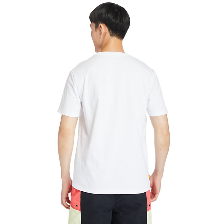 Logo Box-Cut T-Shirt for Men in White-