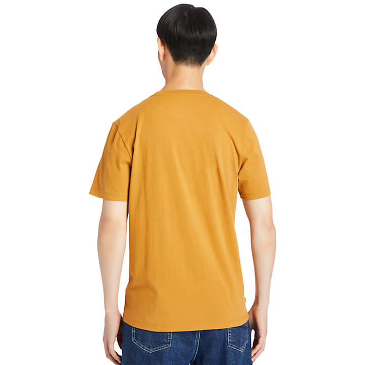 Logo Box-Cut T-Shirt for Men in Orange-