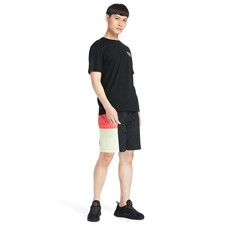 Back-Logo T-Shirt for Men in Black-