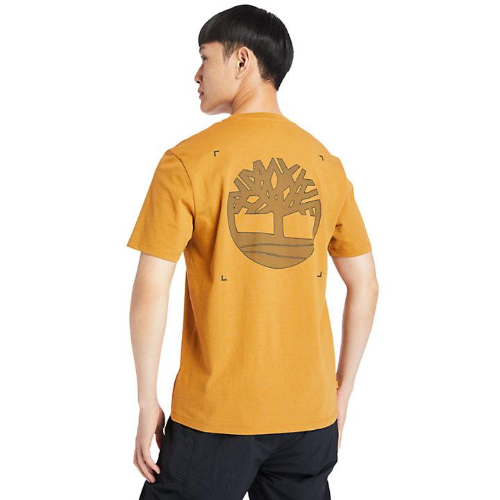 Herren-T-Shirt mit Logo auf dem Rücken in Orange-