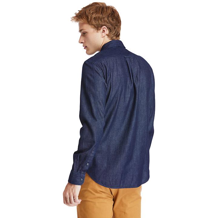 Camisa Ganga Mumford River para Homem em azul índigo-