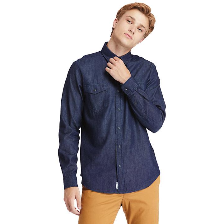 Camisa Vaquera Mumford River para Hombre en añil-