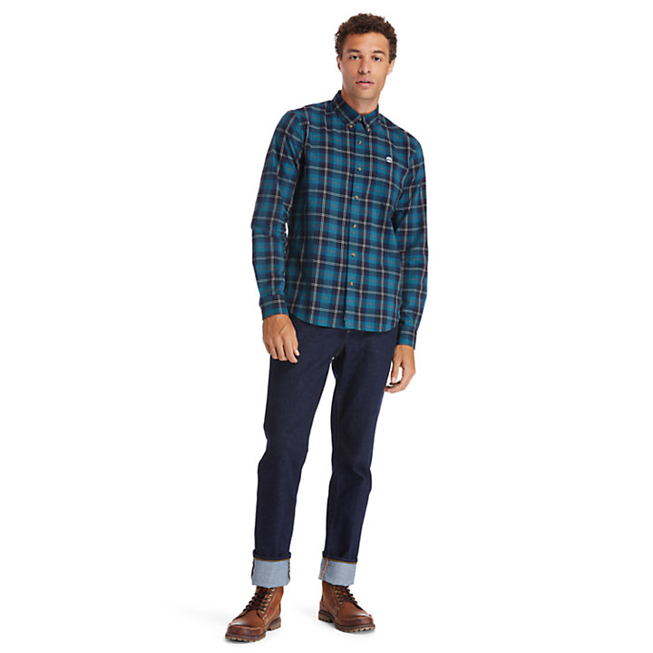 Eastham River Tartan Shirt for Men in Green-