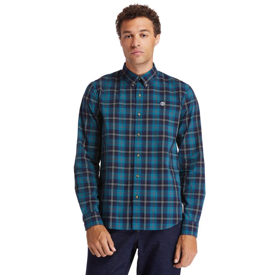 Timberland Eastham River Tartan Shirt For Men In Green Green, Size XXL