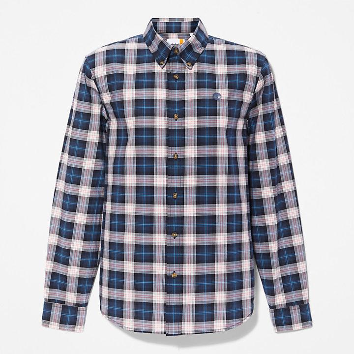 Camicia da Uomo con Motivo Tartan Eastham River in grigio chiaro-