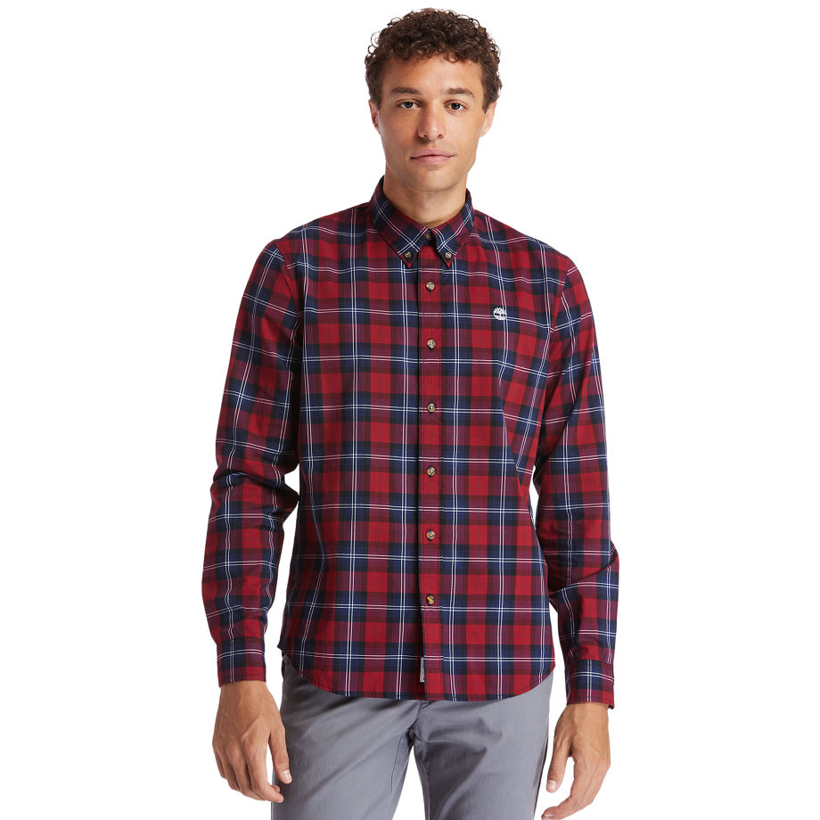 Timberland Eastham River Tartan Shirt For Men In Red Red, Size XL