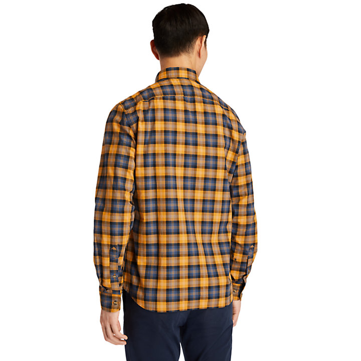 Camicia da Uomo con Motivo Tartan Eastham River in giallo-