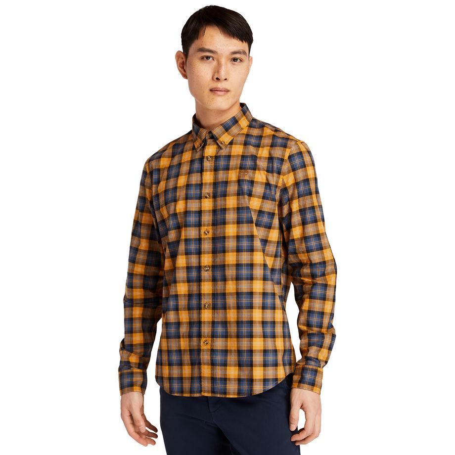 Timberland Eastham River Tartan Shirt For Men In Yellow Yellow, Size M