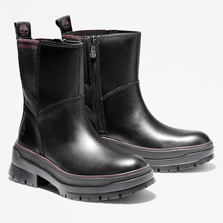 Malynn Side-zip Boot for Women in Black-