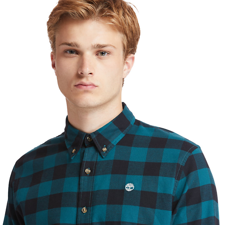 Mascoma River Check Shirt for Men in Teal-