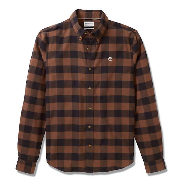 Mascoma River Check Shirt for Men in Brown-