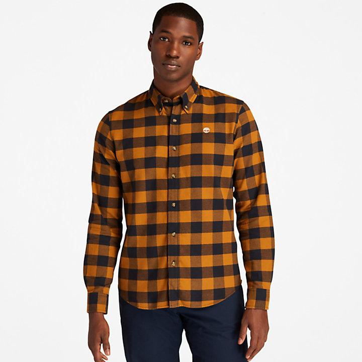 Camisa a Cuadros Mascoma River para Hombre en marrón-