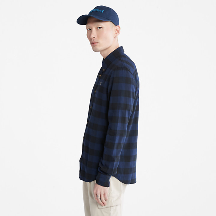 Mascoma River Check Shirt for Men in Navy-