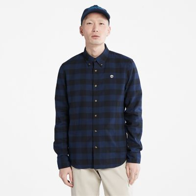 Mascoma+River+Check+Shirt+for+Men+in+Navy