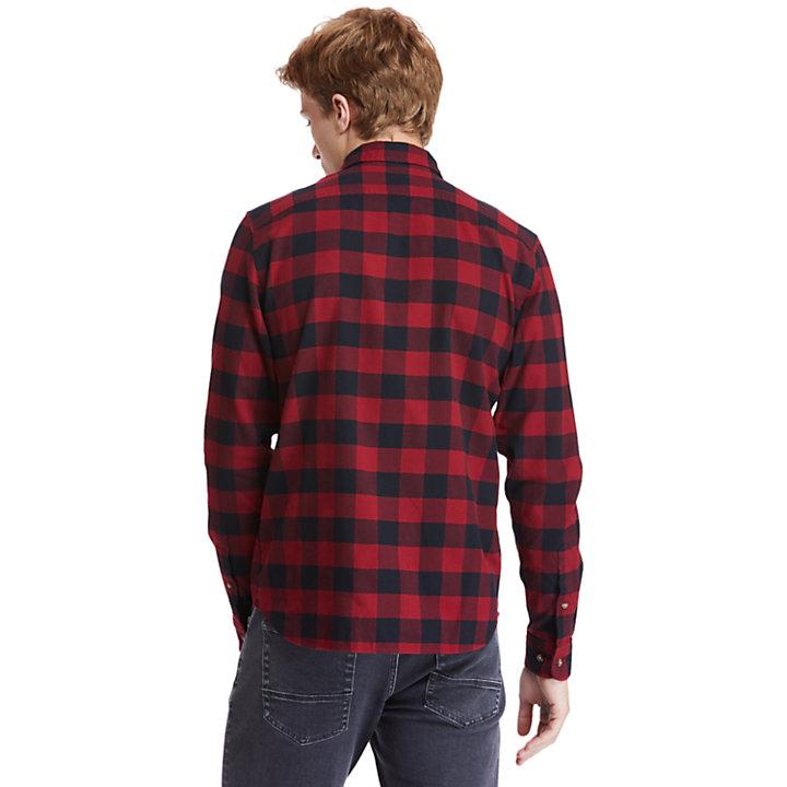 Camicia a Quadri da Uomo Mascoma River in rosso-