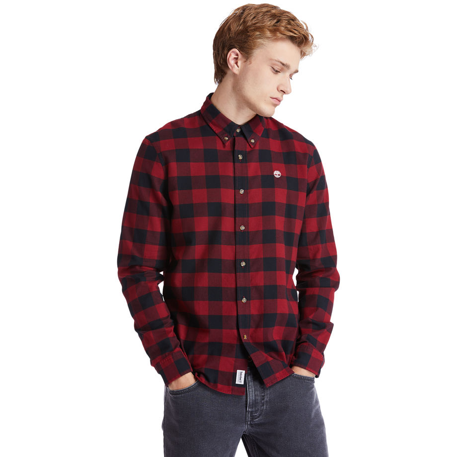 Timberland Mascoma River Check Shirt For Men In Red Red, Size L