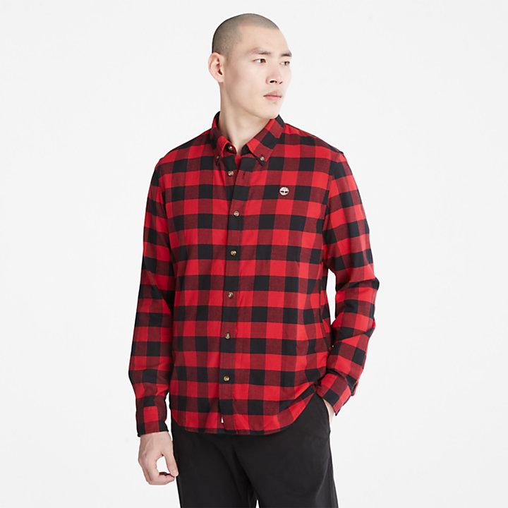 Chemise à carreaux Mascoma River pour homme en rouge-