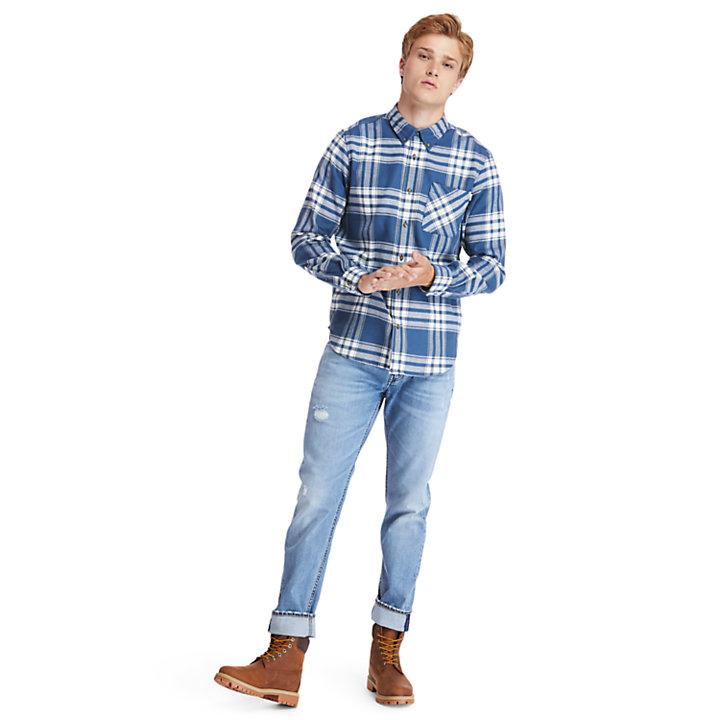 Chemise en flanelle Back River pour homme en bleu marine-