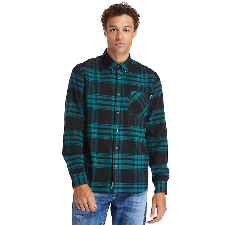 Back River Flannel Shirt for Men in Green-