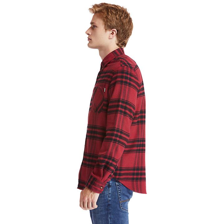 Chemise en flanelle Back River pour homme en rouge-
