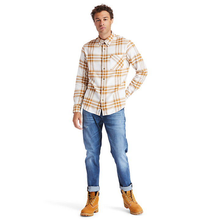 Chemise en flanelle Back River pour homme en jaune-