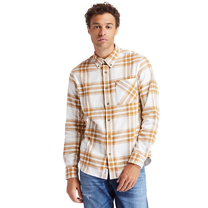 Camisa de Franela Back River para Hombre en amarillo-
