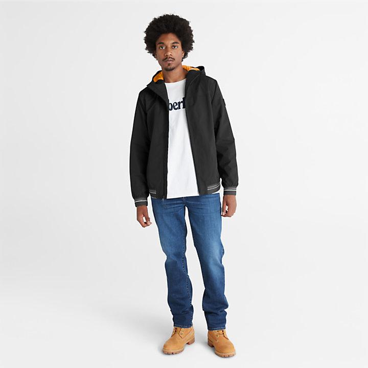 Coastal Cool Bomber Jacket for Men in Black-