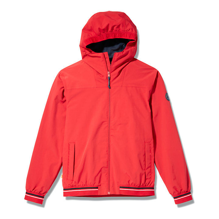 Coastal Cool Bomber Jacket for Men in Red-