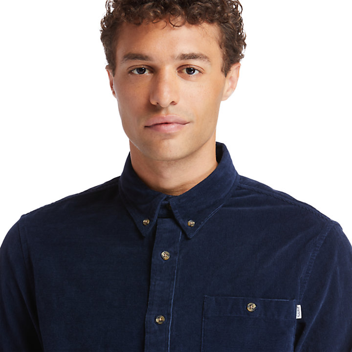 Mascoma River Corduroy Shirt for Men in Navy-