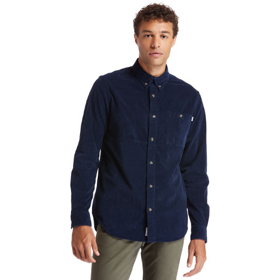 Mascoma River Corduroy Shirt for Men in Navy | Timberland