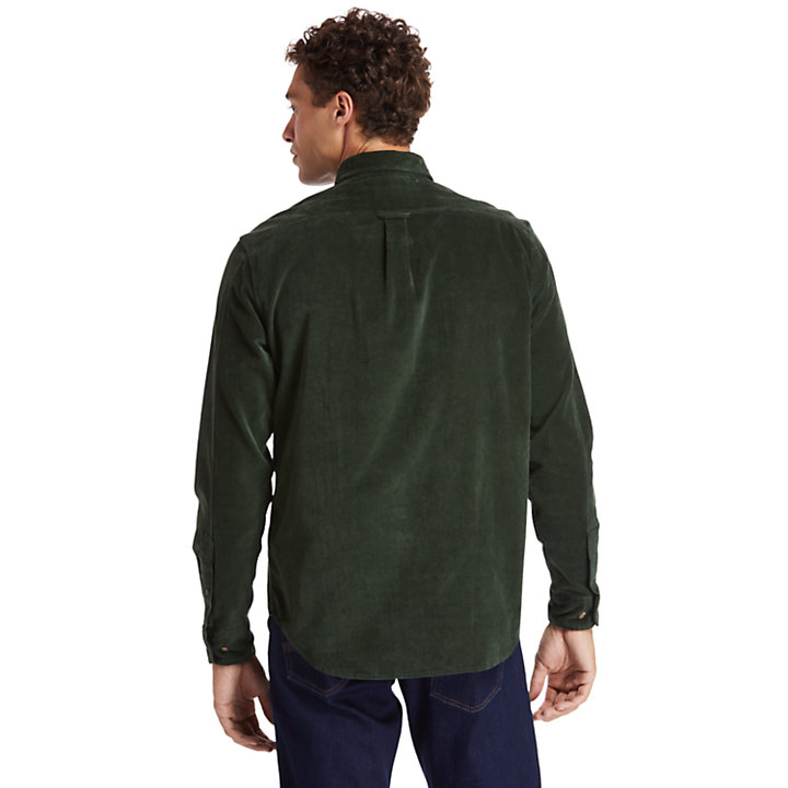 Mascoma River Corduroy Shirt for Men in Green-