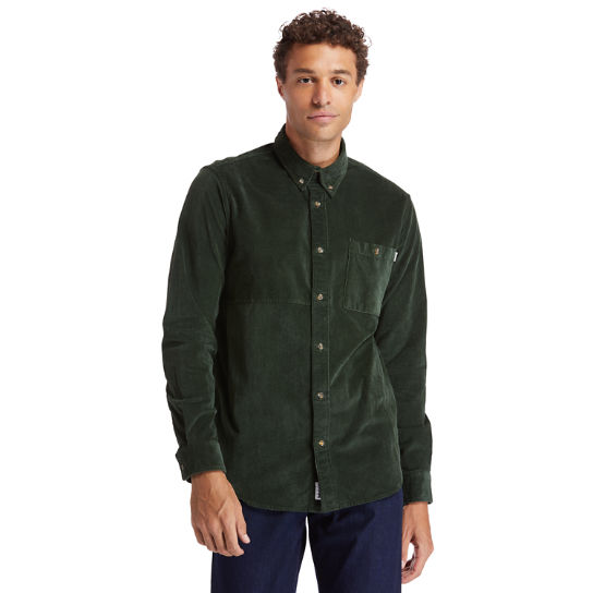 Mascoma River Corduroy Shirt for Men in Green | Timberland