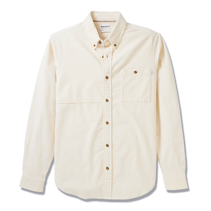 Mascoma River Corduroy Shirt for Men in Beige-