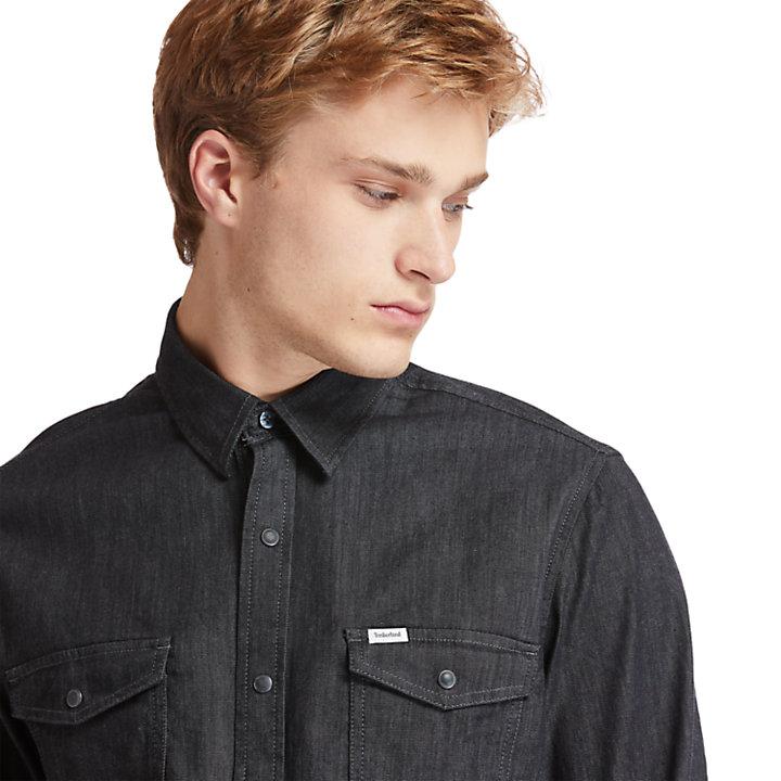 Camisa Ganga Elástica Mumford River para Homem em preto-