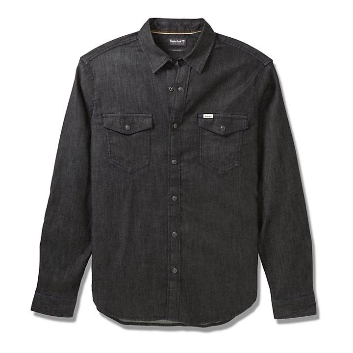 Camisa Elástica Mumford River para Hombre en color negro-
