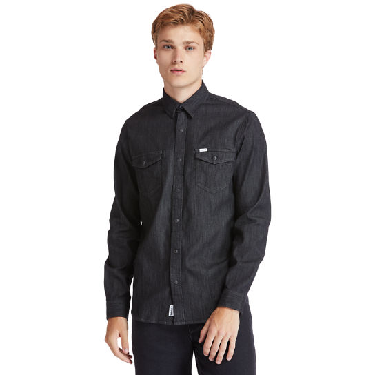 Mumford River Stretch Denim Shirt for Men in Black | Timberland