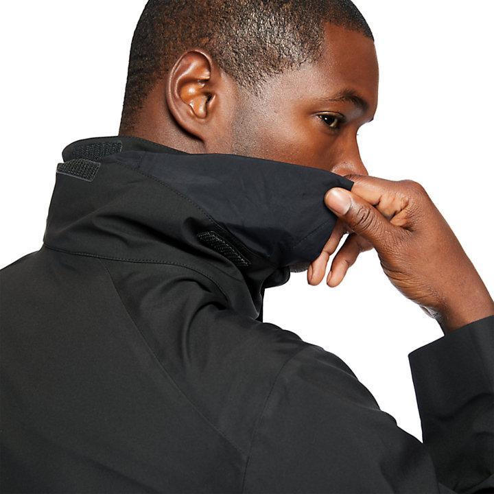 Parka de Viaje Impermeable para Hombre en color negro-
