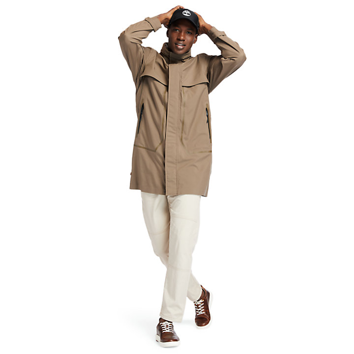 Parka de Viaje Impermeable para Hombre en marrón-