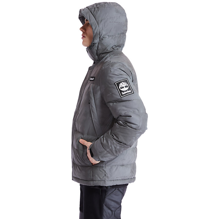 Climate Pack Puffer Jacket for Men with Weather Print-