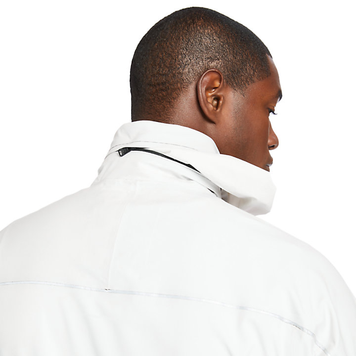 Waterproof Sailor Jacket for Men in White-