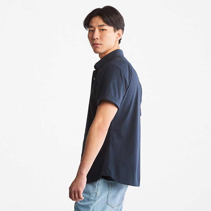 Eastham River Poplin Shirt for Men in Navy-