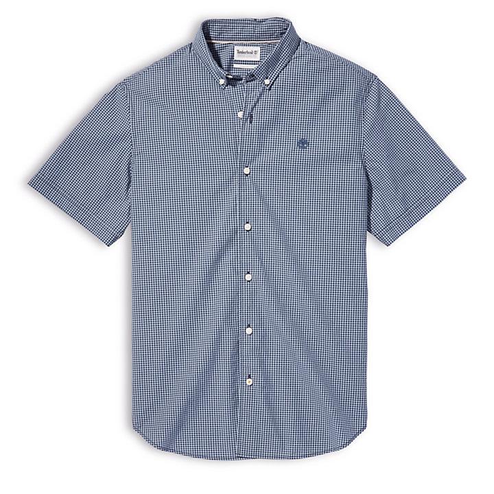 Camisa de Microcuadros Suncook River para Hombre en azul-