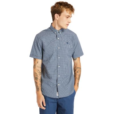 Suncook+River+Micro-gingham+Shirt+for+Men+in+Blue