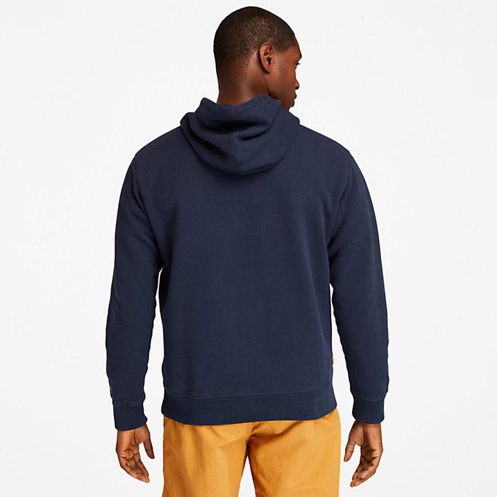 Boot-logo Hoodie for Men in Navy-